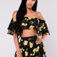 St. Martin Set - Black/Floral