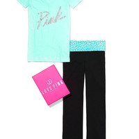 V-neck Tee & Yoga Bootcut Pant Gift Set - PINK - Victoria's Secret