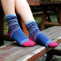 2015 Autumn/winter collection women cotton socks Hosiery for restoring ancient ways is the neutral breathable deodorization
