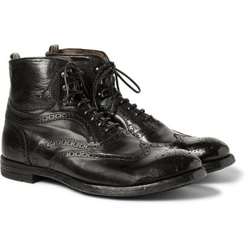 Officine Creative - Anatomia Leather Brogue Boots | MR PORTER
