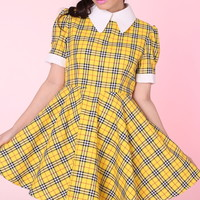 Glitters For Dinner — MADE TO ORDER - Tartan Wonderland Dress in Yellow