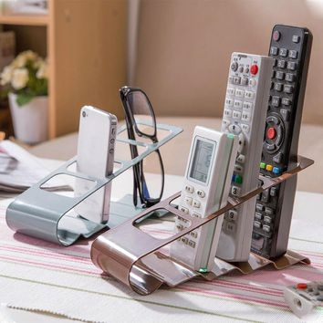 Tool Exquisite Plastic Rack Caddy 4 Slots Useful Phone Remote Control Storage Organiser VCR DVD TV Stand Holder Box