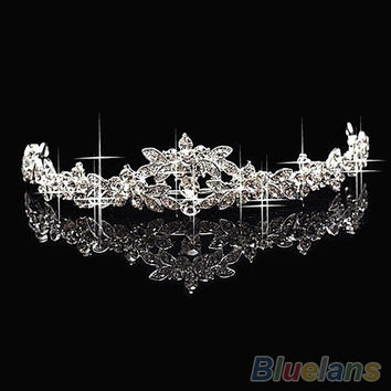 HOT Elegant Sparkly Crystal Rhinestone Crown Tiara Wedding Prom Bride's Headband