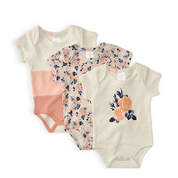 Pumpkin Patch - bodysuits - 3pk mouse princess body suits - W4BN15029 - antique white - newborn to 6-12m