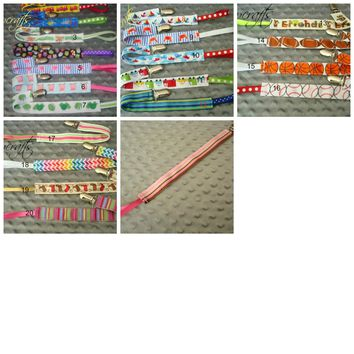 Universal Pacifier Clips Ribbon Pacifier Clips