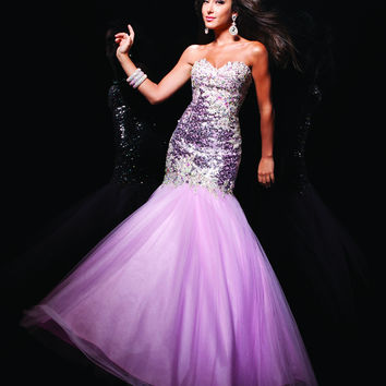 Le Gala by Tony Bowls 113724 Pink Size 20 Fit N Flare, sparkling sequins prom dress, evening gown