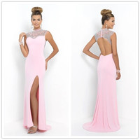 Bubblegum Pink White Prom Dresses