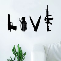 Love Weapons Wall Decal Sticker Vinyl Art Home Decor Bedroom Living Room