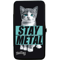 Miss May I Women's Kitty Stay Metal Girls Wallet