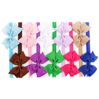 Opentip.com: Alice Grosgrain Bows Glued to Soft Stretchy Headbands Head Wear (Pack of 24)