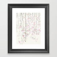 pink cherry blossom Framed Art Print by Color and Color