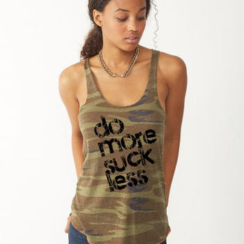 Do More Suck Less Workout Tank CrossFit Competition Tank       Fitness Tank