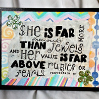 Jewels Proverbs Quote Wall Art