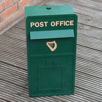 Wooden Irish wedding postbox with your own details added