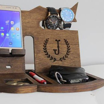 Gifts for men personalized mens docking station, phone docking station, phone dock station, phone dock station organizer, phone stand holder