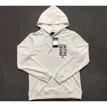 NIKE Print Hooded Pullover Tops Sweater Sweatshirts