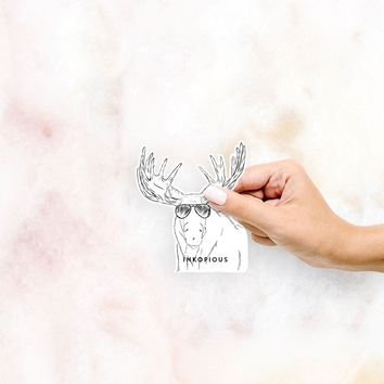 Monty the Moose - Decal Sticker