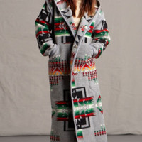 Womens Long Wool Coats, Southwestern & Native American Pendleton ® Fabric Coats