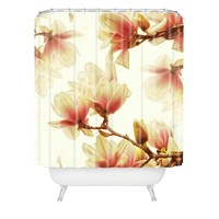 Shannon Clark Sheer Magnolias Shower Curtain