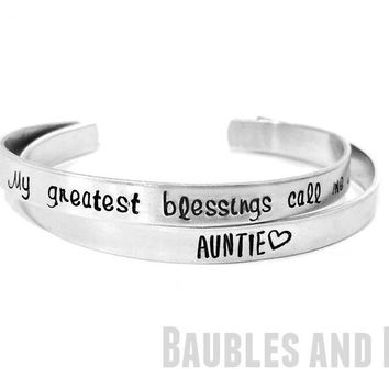 Personalized Cuff Style Bracelet