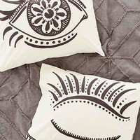 Magical Thinking Wink Pillowcase Set- Black & White One