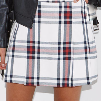 Kendall & Kylie Plaid Pleated Mini Skirt at PacSun.com