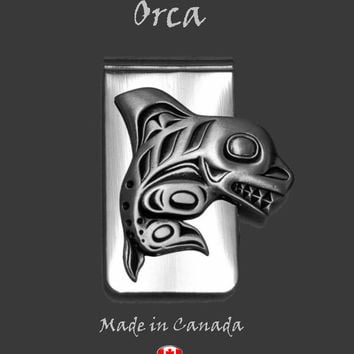 Orca Whale Money Clip in Pewter by Frederick Design