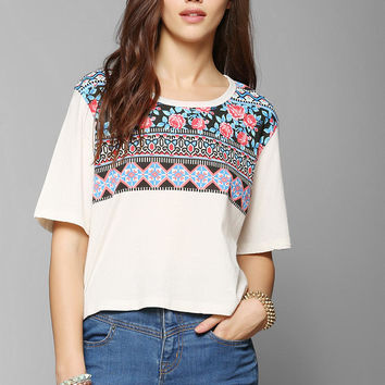 Truly Madly Deeply Rose Cropped Tee - Urban Outfitters