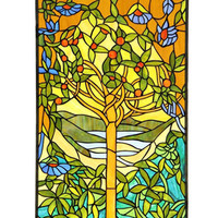 Arts & Crafts Eden Stained Glass Panel