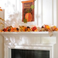 Harvest Sunflower Pre-Lit Garland | Kirklands