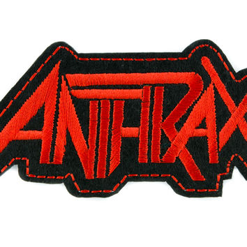Anthrax Patch Iron on Applique Alternative Clothing Heavy Metal Music