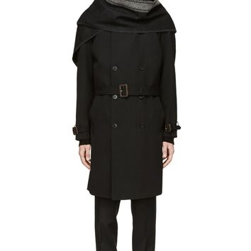Maison Martin Margiela Black Draped Shawl Coat