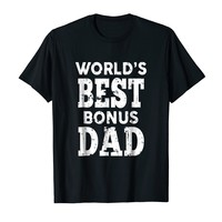 World's Best Bonus Dad Tee Shirt Fathers Day Gifts