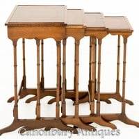 Canonbury - Regency Nest Tables - Set 4 Maogany Side Table