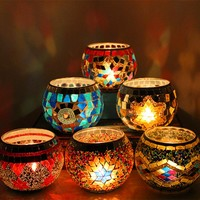 Mosaic Romantic Candle Holder