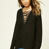 TWELVE Lace-Up Top