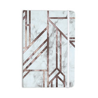 "KESS Original ""Dark Marble Mosaic"" Digital Geometric Everything Notebook"