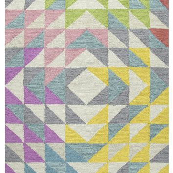 Rizzy Home Play Day PD589A Multi-Colored Triangle Geo Area Rug