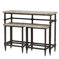 Tameron Bistro Table & Stools - Set of 3 by Uttermost
