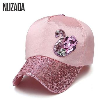 Brands NUZADA New  2017 Ladies Women Baseball Caps Snapback Spring Summer Autumn Bone Hip Hop Hats Sunscreen Leisure Cotton Cap