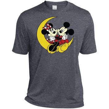 Merry Christmas and Happy New Year Mickey Mouse and moon  TST360 Sport-Tek Tall Heather Dri-Fit Moisture-Wicking T-Shirt