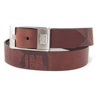 Detroit Tigers MLB Men's Embossed Leather Belt (Size 36)