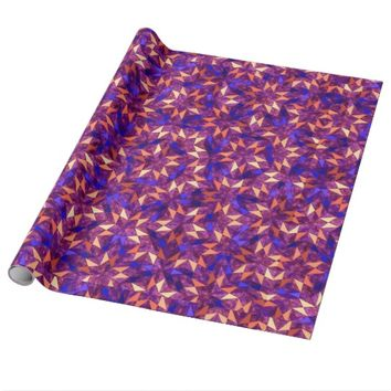 Geometric Star Kaleidoscope Abstract Pattern Wrapping Paper