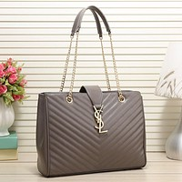 YSL Yves Saint laurent Women Fashion Leather Chain Satchel Shoulder Bag Handbag