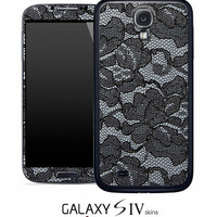 Black Lace Skin for the Samsung Galaxy S4, S3, S2, Galaxy Note 1 or 2