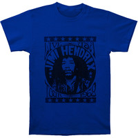 Jimi Hendrix Men's  1968 Slim Fit T-shirt Royal