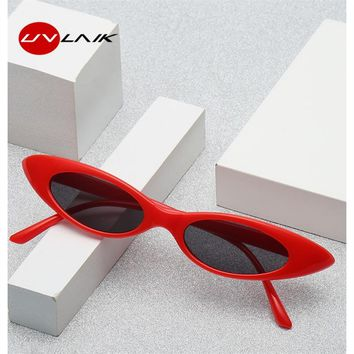 UVLAIK Vintage Cat Eye Sunglasses 2018 Women Classic Brand Designer Small Frame Cateyes Sun Glasses Female Oval Eyewear UV400