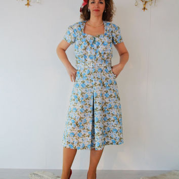 1940's dress, vintage style summer dress,  made to measure swing dress, WWII lindy hop made to fit retro style 40's 1950's
