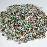 Pack of Ten (10) Assorted Mix Colorful Murano Glass European Beads Charms - F...