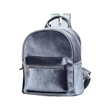 Fishion Velvet backpack sweet lady Small Backpacks for teenage girls  Cheap bags Sac d'dos femme